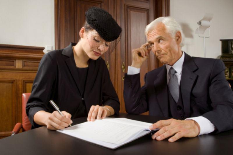 как определяется доля жены после смерти мужа