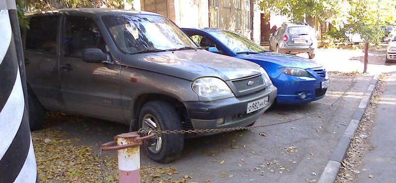 захват парковочных мест во дворах